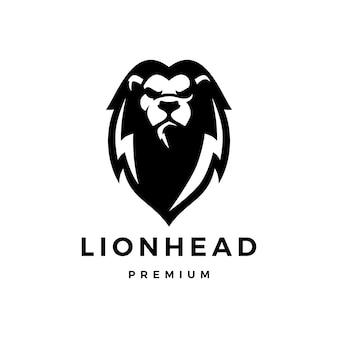 Cabeça de leão logo icon ilustração