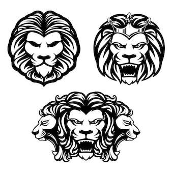 Cabeça de leões
