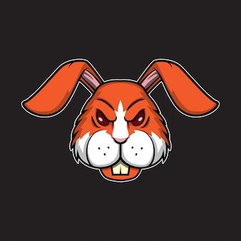 Cabeça de logotipo de coelho