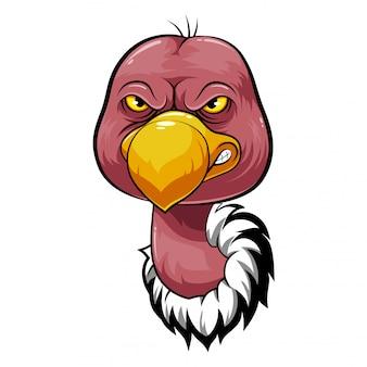 Cabeça de mascote de um abutre