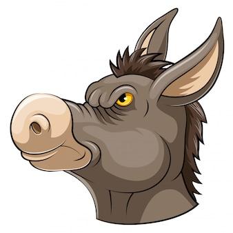 Cabeça de mascote de um burro