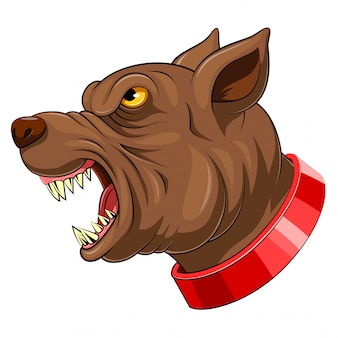 Cabeça de mascote de um cão