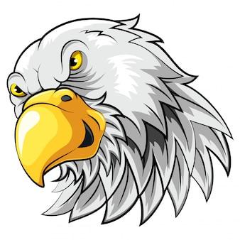 Cabeça de mascote de um falcão