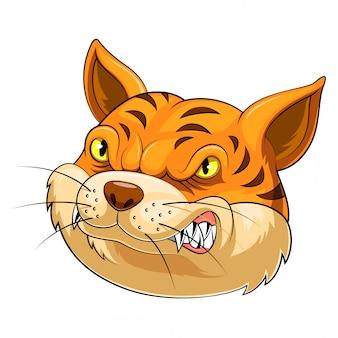 Cabeça de mascote de um gato