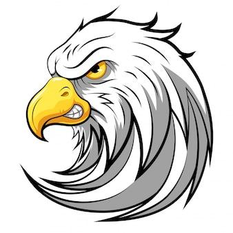 Cabeça de mascote de uma águia