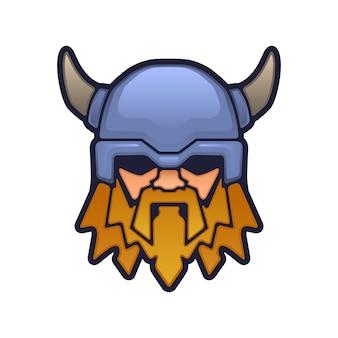 Cabeça de mascote viking