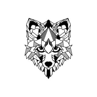 Cabeça de raposa geométrica