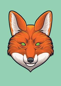 Cabeça de raposa vector design ilustração
