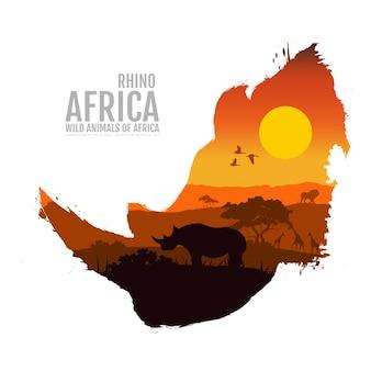Cabeça de rinoceronte