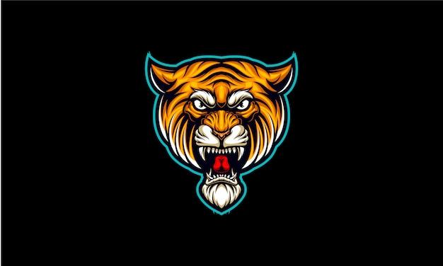 Cabeça de tig esport logotipo