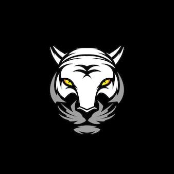 Cabeça de tigre branco clip-art