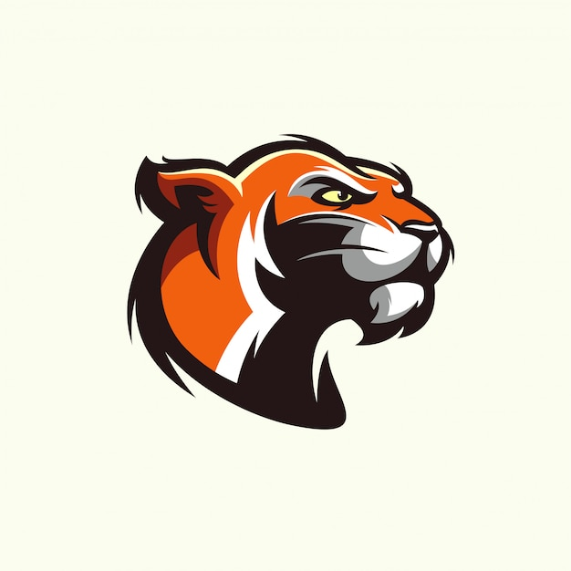 Cabeça de tigre em estilo detalhado - vetor