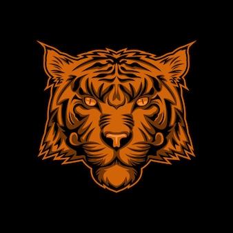 Cabeça de tigre vector design ilustração