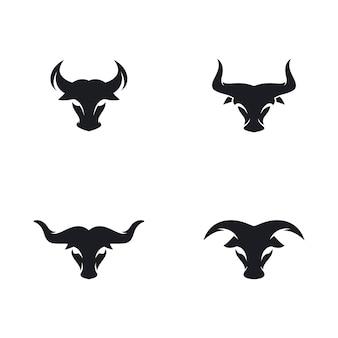 Cabeça de touro logo vector ícone