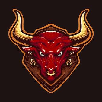 Cabeça de touro vermelha