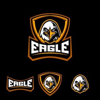 Cabeça de um emblema de mascote de águia