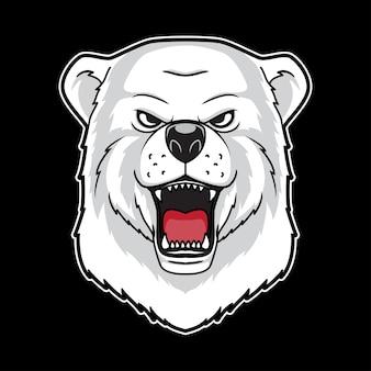 Cabeça de urso polar