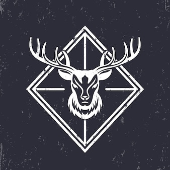 Cabeça de veado, elementos de emblema