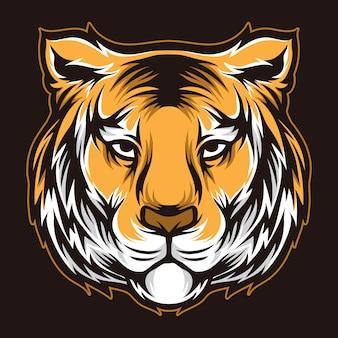 Cabeça de vetor de tigre