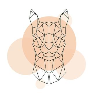 Cabeça geométrica de alpaca