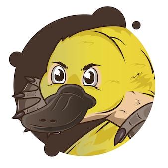 Cabeça grande yellow ornitorrinco avatar