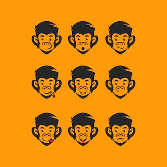 Cabeça macaco logotipo