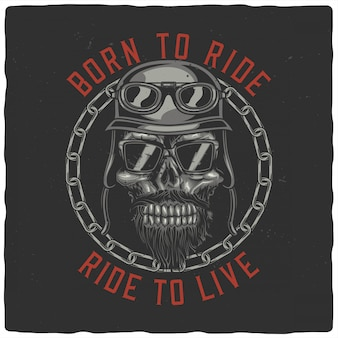 Cabeça motociclista