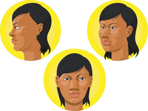 Cabeça - mulher afro-americana