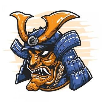 Cabeça samurai