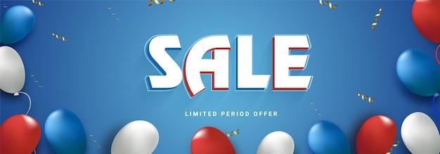 Cabeçalho da web ou banner design com balões