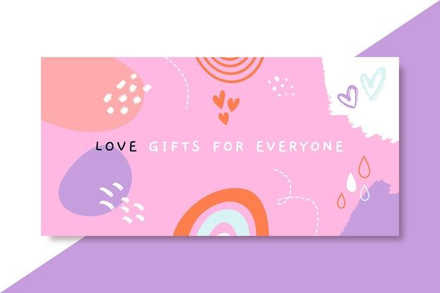 Cabeçalho de blog de amor infantil desenhado à mão