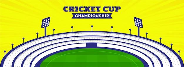 Cabeçalho de campeonato de copa de críquete