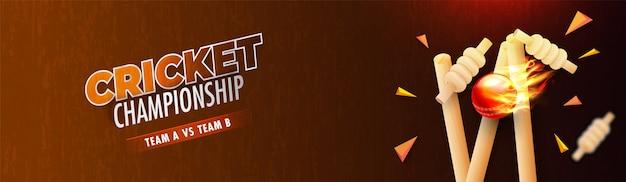 Cabeçalho de campeonato de críquete ou design de banner