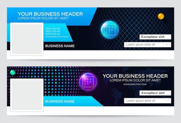 Cabeçalho de design de negócios