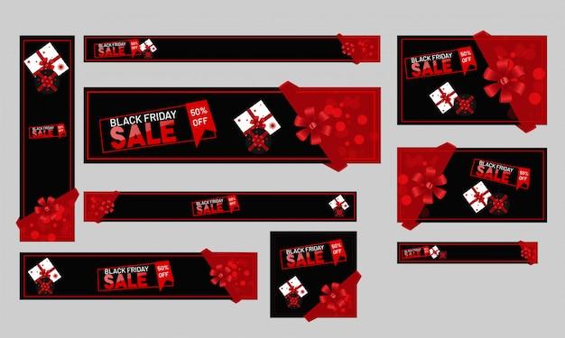 Cabeçalho de venda de site ou conjunto de banner com 50% de desconto para bl