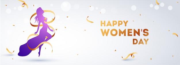 Cabeçalho do dia da mulher feliz
