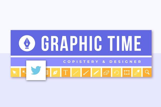Cabeçalho do twitter com design de grade