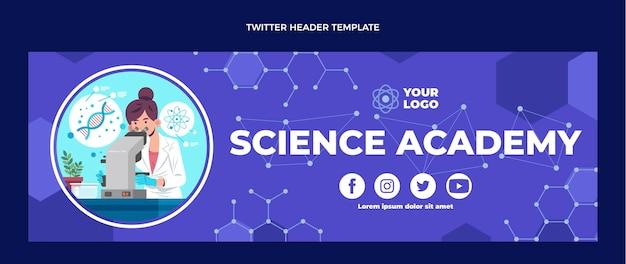 Cabeçalho do twitter da ciência do design plano