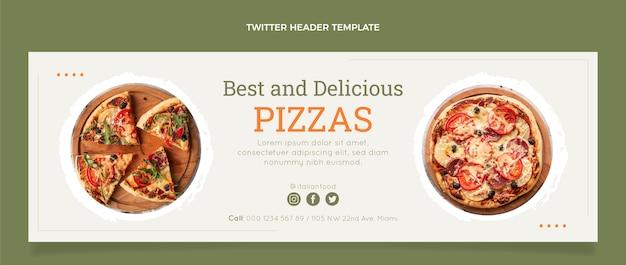 Cabeçalho do twitter de comida italiana plana Vetor grátis