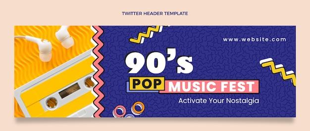 Cabeçalho do twitter do festival de música nostálgico dos anos 90