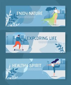 Cabeçalho motivacional de melhoria de estilo de vida