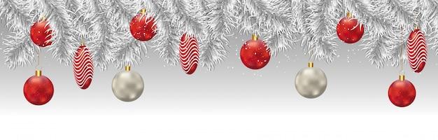 Cabeçalho ou banner da festa de natal