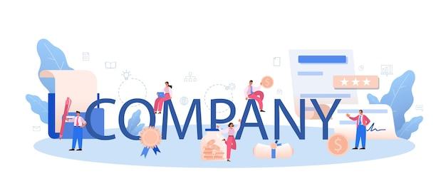 Cabeçalho tipográfico da empresa