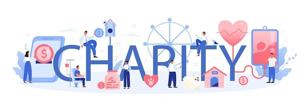 Cabeçalho tipográfico de caridade