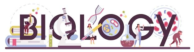 Cabeçalho tipográfico de ciências de biologia