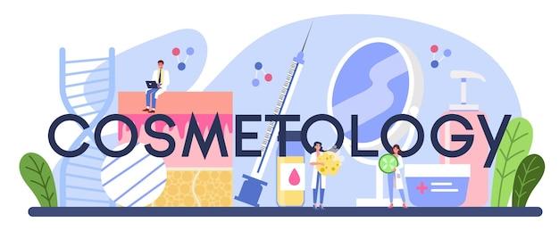 Cabeçalho tipográfico de cosmetologia