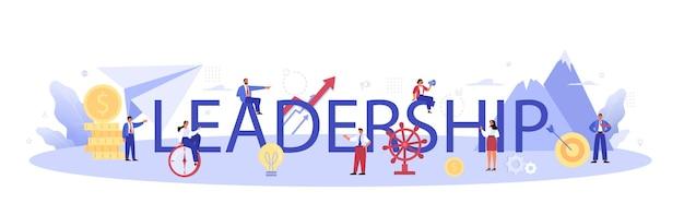 Cabeçalho tipográfico de liderança