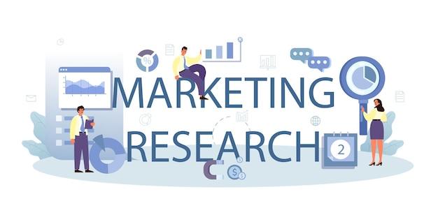 Cabeçalho tipográfico de pesquisa de marketing