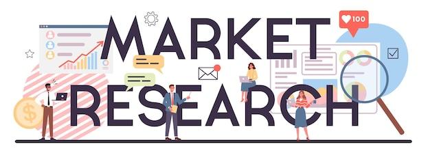 Cabeçalho tipográfico de pesquisa de mercado