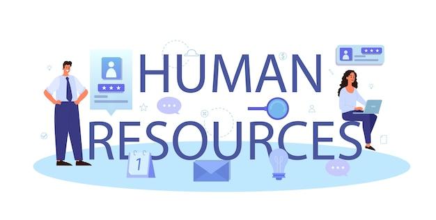 Cabeçalho tipográfico de recursos humanos